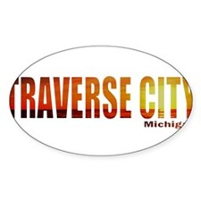 Traverse City, Michigan Oval Decal