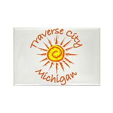 Traverse City, Michigan Rectangle Magnet