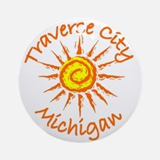 Traverse City, Michigan Ornament (Round)