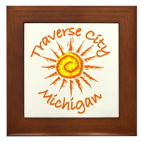 Traverse City, Michigan Framed Tile