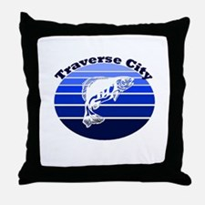 Traverse City, Michigan Throw Pillow
