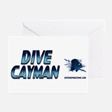 Dive Cayman (blue) Greeting Cards (Pk of 10)