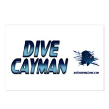 Dive Cayman (blue) Postcards (Package of 8)