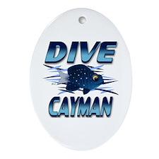 Dive Cayman (blue) Keepsake (Oval)