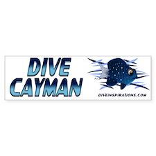 Dive Cayman (blue) Bumper Bumper Sticker