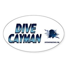 Dive Cayman (blue) Oval Stickers