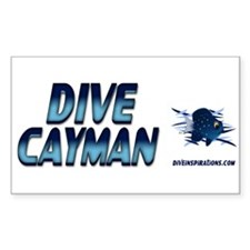 Dive Cayman (blue) Rectangle Decal