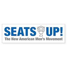 Seats Up Bumper Bumper Sticker