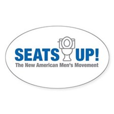 Seats Up Oval Decal