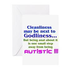 Cute Autism jokes Greeting Cards (Pk of 10)