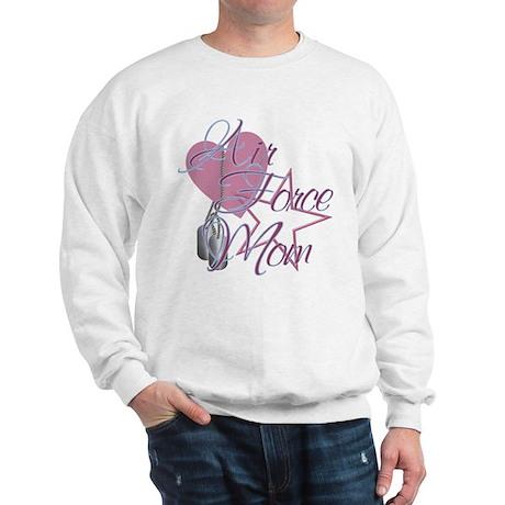 Air Force Mom Heart N Star Sweatshirt