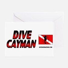 Dive Cayman (red) Greeting Cards (Pk of 10)