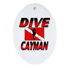 Dive Cayman (red) Keepsake Oval Ornament