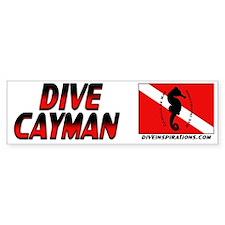 Dive Cayman (red) Bumpersticker