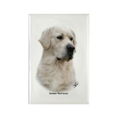 Golden Retriever 9Y398D-078 Rectangle Magnet (10 p