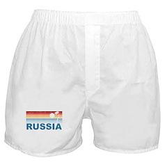 Retro Palm Tree Russia Boxer Shorts
