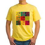 Coins Pop Art Yellow T-Shirt