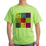 Coins Pop Art Green T-Shirt
