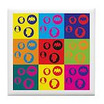 Coins Pop Art Tile Coaster