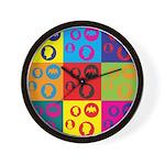 Coins Pop Art Wall Clock