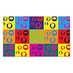Coins Pop Art Rectangle Sticker 50 pk)