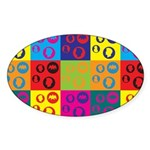Coins Pop Art Oval Sticker (10 pk)