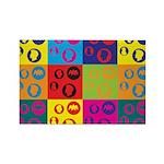 Coins Pop Art Rectangle Magnet (100 pack)