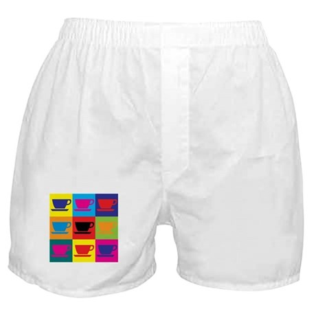 Coffee Pop Art Boxer Shorts