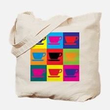 Coffee Pop Art Tote Bag