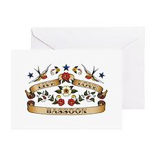 Live Love Bassoon Greeting Card