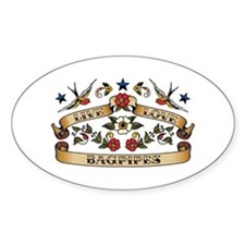 Live Love Bagpipes Oval Decal