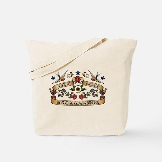 Live Love Backgammon Tote Bag