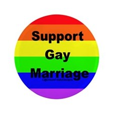 "Support Gay Marriage 3.5"" Button"