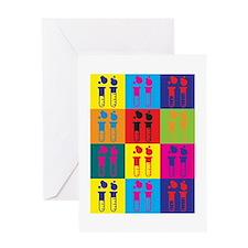 Chemical Engineering Pop Art Greeting Card