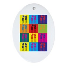 Chemical Engineering Pop Art Oval Ornament