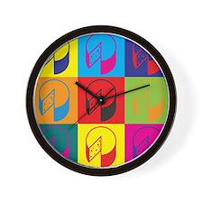 Cheese Pop Art Wall Clock