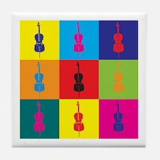 Cello Pop Art Tile Coaster
