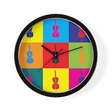 Cello Pop Art Wall Clock