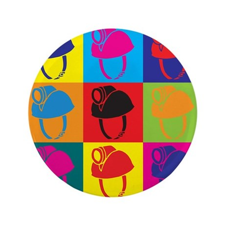 """Caving Pop Art 3.5"""" Button (100 pack)"""