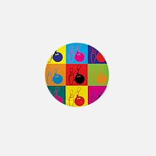 Bowling Pop Art Mini Button