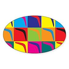 Boomerang Pop Art Oval Sticker (10 pk)