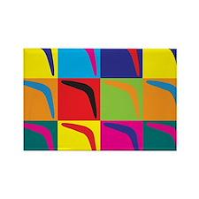 Boomerang Pop Art Rectangle Magnet