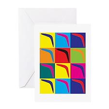 Boomerang Pop Art Greeting Card