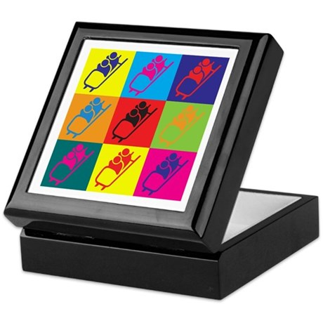 Bobsled Pop Art Keepsake Box