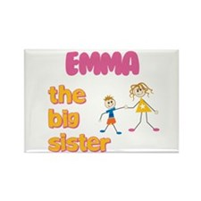 Emma - The Big Sister Rectangle Magnet