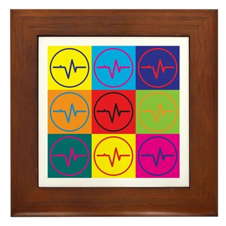 Biomedical Engineering Pop Art Framed Tile