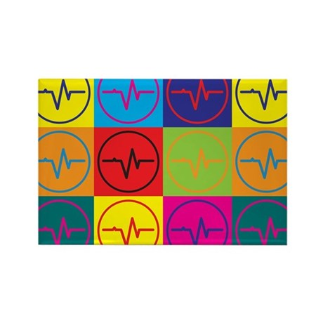 Biomedical Engineering Pop Art Rectangle Magnet (1