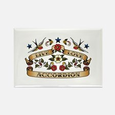 Live Love Accordion Rectangle Magnet (10 pack)