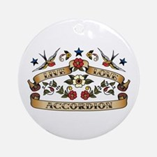 Live Love Accordion Ornament (Round)