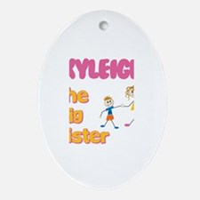 Kyleigh - The Big Sister Oval Ornament